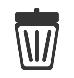 silhouette trash can isolated vector image