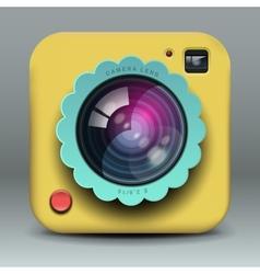 App design yellow photo camera icon vector image vector image