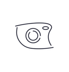 camera icon doodle hand drawn sign in vector image