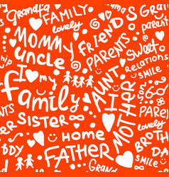 family seamless pattern for your design vector image