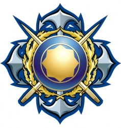 navy style badge vector image vector image