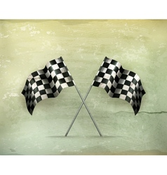 Racing flags old-style vector image