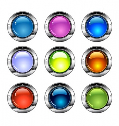 shiny colorful buttons vector image