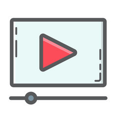 video marketing filled outline icon seo vector image vector image