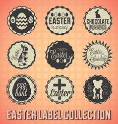 Vintage Happy Easter Labels and Badges vector image vector image