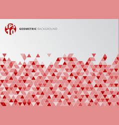 abstract red geometric triangle structure vector image vector image