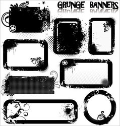 Empty Grunge banners vector image vector image
