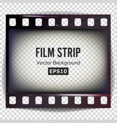 film strip frame strip blank scratched vector image