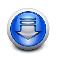 glassy button vector image