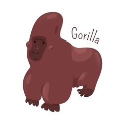 Gorilla isolated Child fun pattern icon vector image vector image