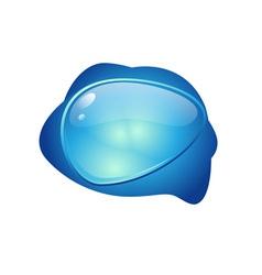 Speech button vector image