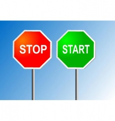 stop and start vector image vector image