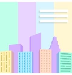 Big city scene vector image vector image