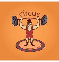 Hand drawn circus lable vector