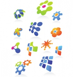 icons and logos vector image vector image