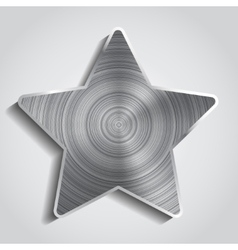 Metal star background vector image