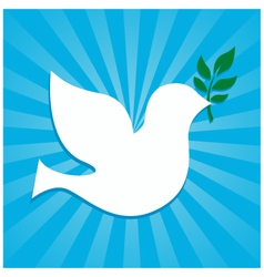 peace dove symbol vector image vector image