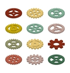 Set of the gears vector image
