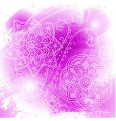 abstract bright pink watercolor blob on white vector image