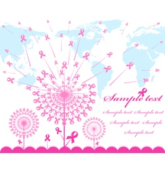 abstract pink Support Ribbon background vector image