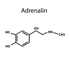 adrenaline is a hormone chemical formula vector image