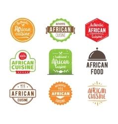 African cuisine label vector image