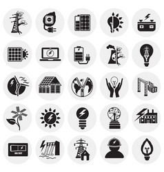 alternative energy set on circles white background vector image