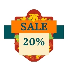 Autumn sale logo vector
