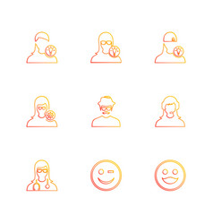 Avtar user profile avatar emoji emoticon vector