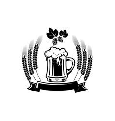 Beer logo - emblem brewery vector
