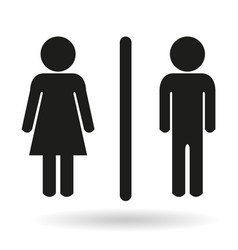 black ladies and gents toilet icon signs vector image
