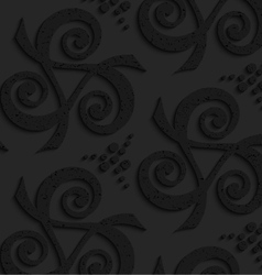 Black textured plastic spirals forming triangles vector image