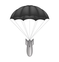 bomb at black parachute vector image