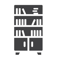 bookshelf solid icon furniture and interior vector image vector image