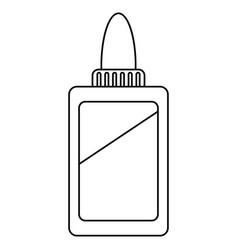 Bottle glue school line vector