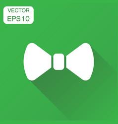 Bow tie icon business concept necktie pictogram vector
