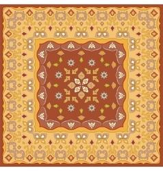 Bright orange scarf vector