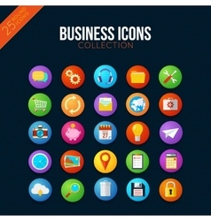 Business icons collection vector