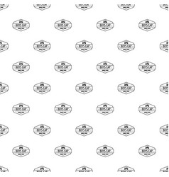 Cap pattern seamless vector