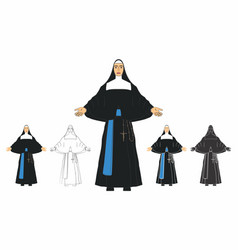 Catholic priestess madre paulina vector