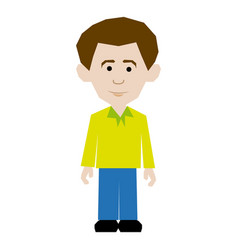 Colorful picture man dressed casual style vector