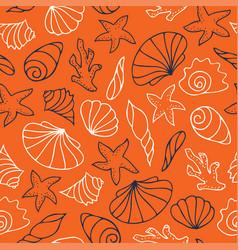 Contour drawings shells vector
