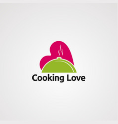 cooking love logo icon element and template for vector image