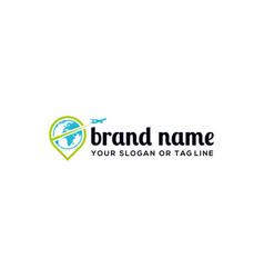 Creative logo design concept travel vector