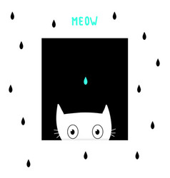 cute cartoon cat scandinavian design vector image