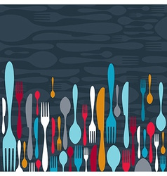 Cutlery silhouette icons background vector