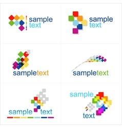Design elements Icons set vector image