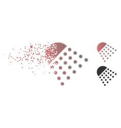 dissolved pixel halftone spray tool icon vector image