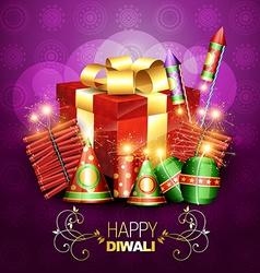 Diwali crackers vector