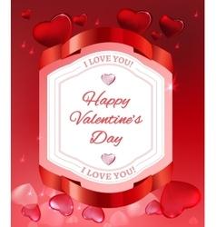 Editable elementary image Valentine vector